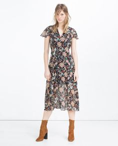 3029e473a46 Image 1 of PRINTED DRESS from Zara Ss16