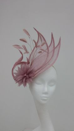 #Hatinator, for Weddings, Hat, for Mother of the Bride, #Fascinator, Ladies Day, Royal Ascot, Occasion, in Dusky Pink, Heather by JayneAlisonMillinery on Etsy