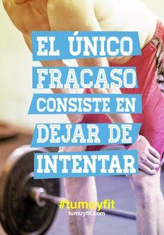 Crossfit: El único fracaso consiste en dejar de intentar #crossfit #motivación #entrenamiento