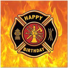 Fireman happy birthday