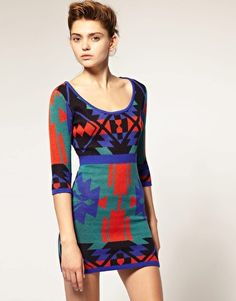ASOS Knitted Body-Conscious Dress in Navajo Pattern (ASOS, $82.23)