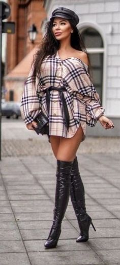 White Satin Blouse, Sexy Boots, Thigh High Boots, Thigh Highs, Kinky, Booty, Womens Fashion, Ski, Outfits