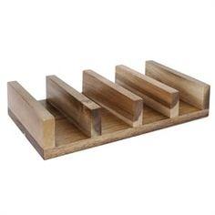 Soporte de madera para tacos y fajitas Olympia