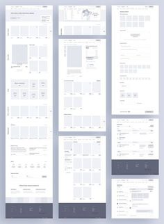 Website & App Wireframe Examples For Creating a Solid UX Design - Website & App Wireframe Examples For Creating a Solid UX Design - Minimal Web Design, Web Design Grid, Web Design Mobile, Web Design Tips, Web Design Tutorials, Web Design Trends, Design Process, Mobile Web, Web Grid