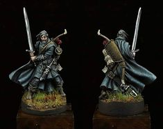 Finished the second Zombicide model: 28mm Miniatures, Reaper Miniatures, Fantasy Miniatures, Dungeons And Dragons Figures, Dungeons And Dragons Miniatures, Dark Fantasy, Fantasy Art, Dnd Mini, Zombicide Black Plague