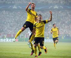 Ch-Leg Warschau-Dortmund 0:6 - Und es ging direkt gut los für den BVB: Bereits in der siebten Minute köpfte Götze das 1:0