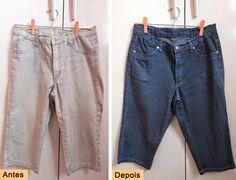 Passo a passo como tingir jeans - faça você mesmo - moda - diy
