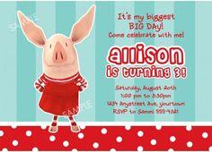 Olivia the Pig Invitation