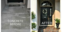 I love the look of flagstone walkways but it wasn't in my budget to rip out the existing concrete and redo the porch. For less than $100 I was able to transform…