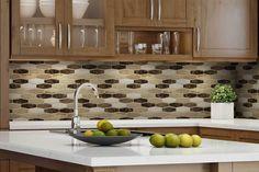 Beautiful Kitchen Backsplash: Peel N' Stick, Peel and Stick, Guaranteed to Stick! Peel N Stick Backsplash, Mosaic Backsplash, Peel And Stick Tile, Kitchen Backsplash, Mosaic Tiles, Resin Material, Modern Colors, Interior Walls, Beautiful Kitchens