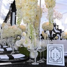 The Design Inspirationalist: Classic Black & White Weddings