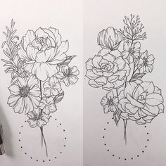floral botanical tattoo succulents rosemary rose