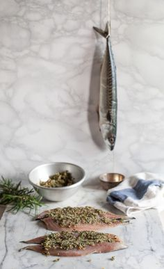 Gratinéed Mackerel With Spicy Herb Coating