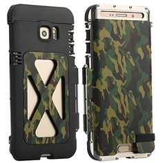 Samsung S7 Edge Case, Lteng Heavy Duty Iron man full Body Armor Hybrid Defender Aluminum Metal Protective Case Cover for Samsung Galaxy S7 Edge (king siver/camo) -- Awesome products selected by Anna Churchill