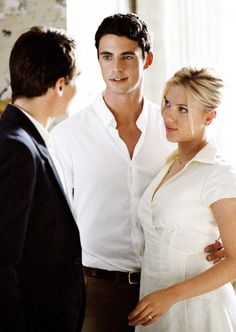 Jonathan Rhys-Meyers, Matthew Goode and Scarlett Johansson in Match Point (2005)