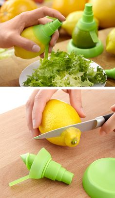 Spray on fresh citrus and preserve vitamins and oxidation of the juice.