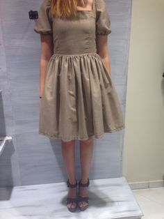 brown princess dress
