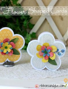 Pretty Flower Shaped cards with picture tutorial on how to make layered flowers