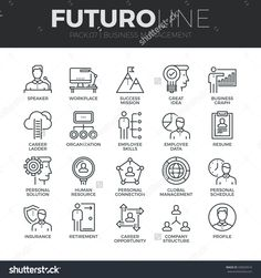 Modern thin line icons set of business people management, employee organization. Premium quality outline symbol collection. Simple mono linear pictogram pack. Stroke vector logo concept, web graphics.