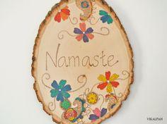 Vikalpah: DIY Namaste (Welcome) sign using wood burning technique