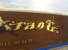 #TRANSOM: Bangarang, Wrightsville Beach #Boat #Transom #BoatTransom  TRANSOM #TECHNIQUE: #GoldLeaf #CustomGraphics  #CustomBoatLettering    #BOAT #BUILDER #BoatBuilder: #SpencerYachts , #NorthCarolina