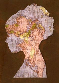 Things you can make with old maps. DIY ideas for old maps. Creative ways to use old maps in crafts and art. Map Crafts, Crafts With Maps, Travel Crafts, Art Carte, Map Globe, Old Maps, Silhouette Art, Mickey Silhouette, Art Plastique