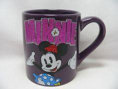Disney-Minnie-Mouse-Coffee-Cup-Mug-14-oz-Classic-Ceramic-Purple-Glitter-New