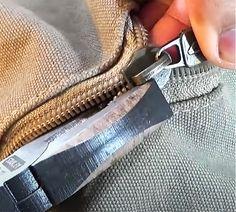 Use Pliers to Fix Broken Zipper - Fix A Zipper Off Track - Simple Clothing Trick