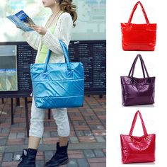 Discount China china wholesale Womens Soft Down Feather Simple Shinning Tote Shoulderbag Handbag [41