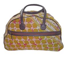 Patterned Weekender Bag.