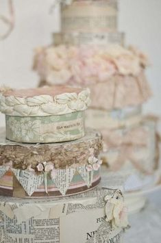 These paper mache boxes are charming http://marymcshane.hubpages.com/hub/101-Prettiest-Pinterest-Shabby-Chic-My-Picks