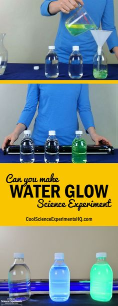 Glowing Water Experiment Steps