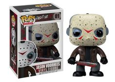 Scary looking adorable! Jason Voorhees as never seen before! Jason Voorhees in stylized urban vinyl form! This Jason Voorhees Movie Pop! Vinyl figure stands 3 3/4-inches tall. The sylized vinyl figure has a rotating head and comes in a displayable window box.