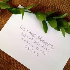 Orme   Mariage main lettrage, adressage enveloppe