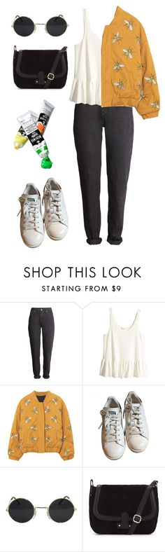 """""""Bee Happy"""" by hey-im-macie ❤ liked on Polyvore featuring H&M, adidas, vintage, indie, retro and aesthetic"""