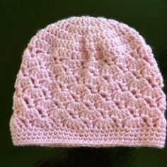 "Crochet Chemo Cap 2 - Free Pattern   #5 yarn  6mm crochet hook   Finished size laying flat: 9"" wide, 7 ¼"" tall   If you'd like to buy ..."