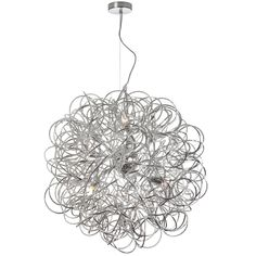 LIVING ROOM - Dainolite Lighting (BAY-248LP-PC) Baya 8 Light 24 Inch Pendant in Polished Chrome with Polished Chrome Steel Shade