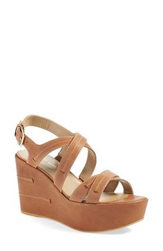 STUART WEITZMAN 'Doublexing' Wedge Sandal (Women). #stuartweitzman #shoes #sandals
