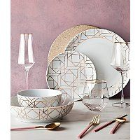 Geometric Dining Collection   George Going For Gold, Minimalist Kitchen, Dinner Sets, Kitchen Essentials, Plate Sets, Dining Set, Decorative Plates, Interior Design, Tableware