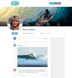 Timeline Ui Facebook alike. Is this a surfers social network?
