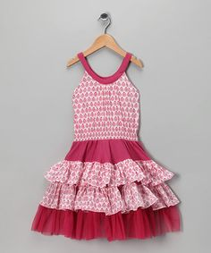 Pink Tiered Ruffle Dress - zulily