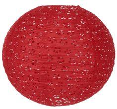 """8"""" Red Round Eyelet Paper Lantern"""