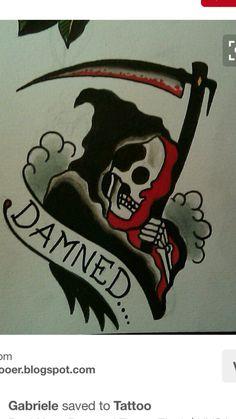 Drawings 😈👿😈👿☠️💀 Skull Tattoos, Body Art Tattoos, Hand Tattoos, Sleeve Tattoos, Ship Tattoos, Ankle Tattoos, Arrow Tattoos, Traditional Tattoo Design, Traditional Tattoo Flash
