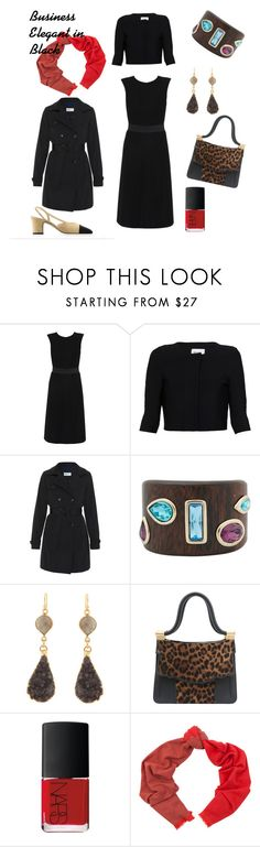 """When the Invitation Says: ""Business Elegant"""" by tishjett on Polyvore featuring Karolina Zmarlak, Issa, Jane Post, Chanel, Oscar de la Renta, Thalé Blanc, NARS Cosmetics and Begg & Co"