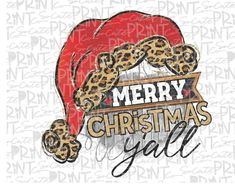 Christmas, Merry Christmas yall santa hat clipart, Christmas png file for sublimation printing, Sant Christmas Clipart, Christmas Signs, Christmas Pictures, Vintage Christmas, Christmas Crafts, Merry Christmas, Santa Hat Clipart, Simple Prints, Clip Art