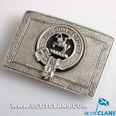 Craig Clan Crest Pewter Belt Buckle
