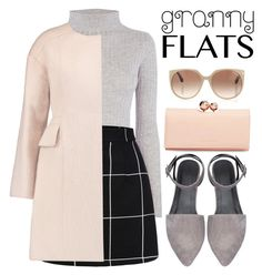 """""""Granny Flats"""" by samang ❤ liked on Polyvore featuring Warehouse, Giambattista Valli, Ted Baker, Tom Ford, women's clothing, women's fashion, women, female, woman and misses"""