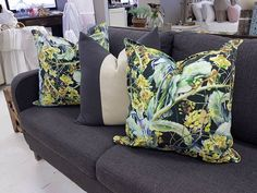 Hathaway paired with cushions in two shades of Savannah.  www.whatnot.co.za Savannah Chat, Cushions, Shades, Throw Pillows, Bed, Home, Products, Toss Pillows, Toss Pillows
