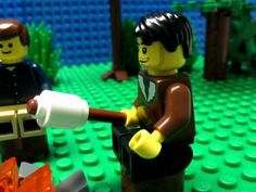 Lego Camping. Animated Lego video.