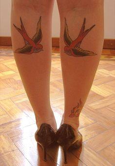 pretty calf swallows